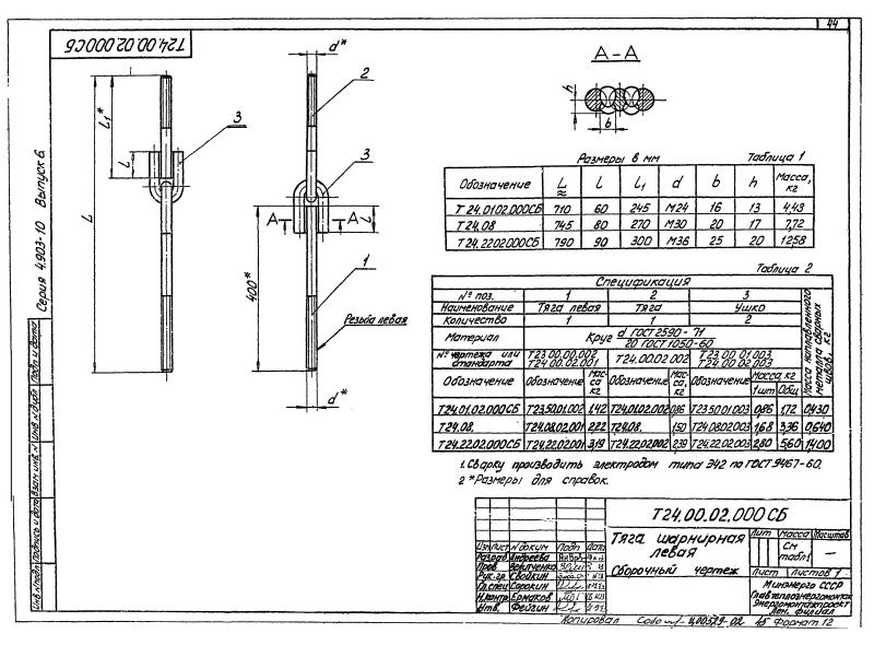 Техническая документация подвесных опор трубопроводов Т24