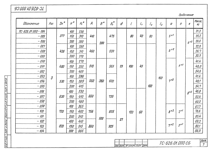 Техническая документация опор скользящих хомутовых приварных ТС-626